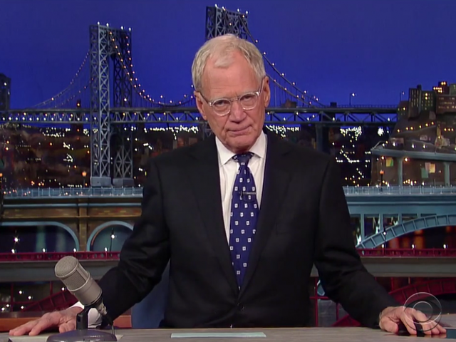 Letterman wins prestigious Mark Twain Prize