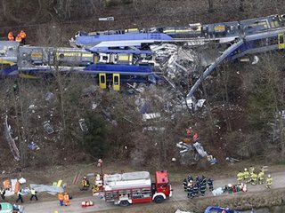 German police: Train crash death toll up to 11