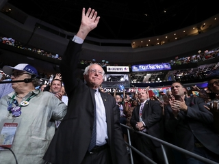 Watch Sanders bow out