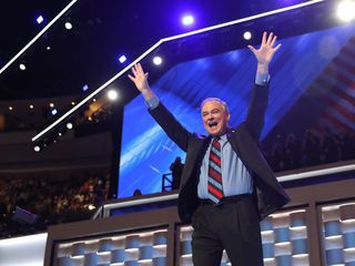 The dad jokes are strong with Tim Kaine