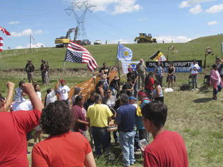 Who pays for IN officers at ND pipeline dispute?