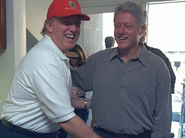 Newly released photos show how close Bill Clinton once was with Trump