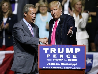UK's Farage joins Trump campaign for debate prep