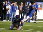 Docs: Giants kicker Brown said he abused wife