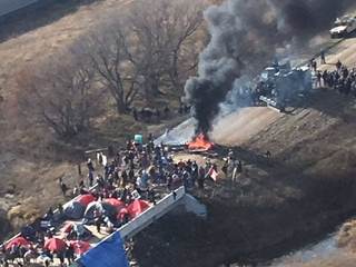 DAPL has violence and dozens of arrests