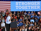 Obama is campaigning with Clinton