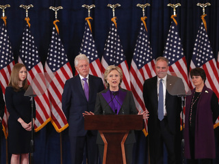 Hillary Clinton gives first speech since loss