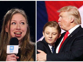 Chelsea Clinton defends Barron Trump on Twitter