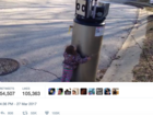 Girl makes friends with 'robot' in viral video