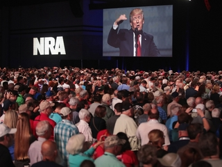 President Trump promises to defend guns, borders