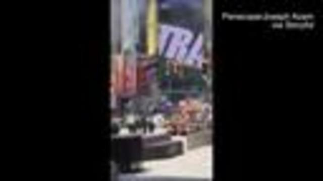 Vehicle  drives wrong way in Times Square and hits crowds; 1 dead