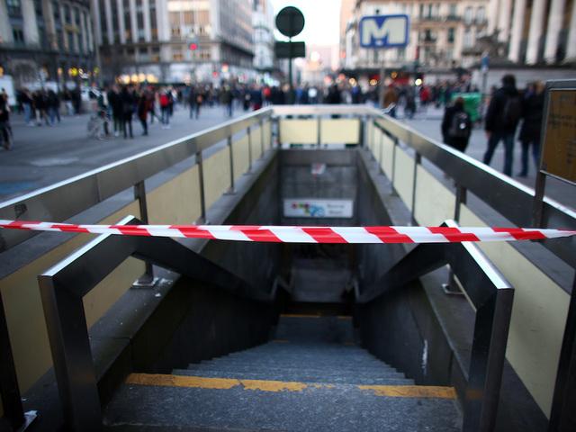 Suspect shot after Brussels station explosion