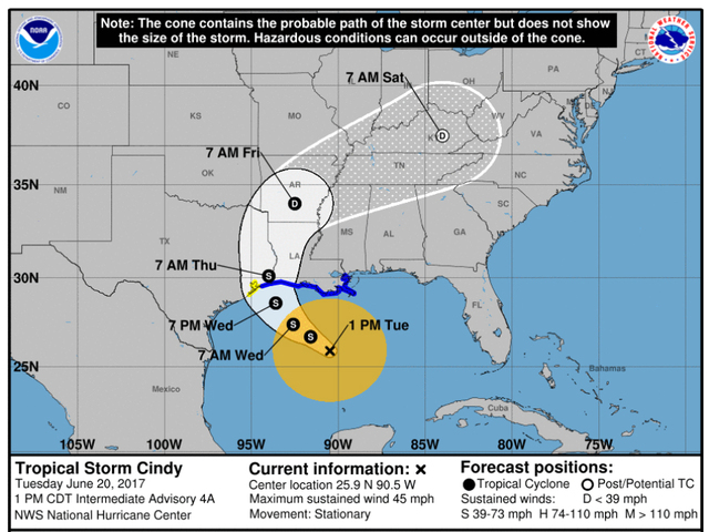 Tropical Storm Cindy continues to be 'moisture pump' for Central Florida