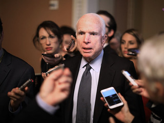 McCain appears to mock Trump's draft deferments
