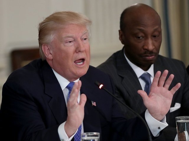 Trump Attacks Merck CEO for Resigning from a White House Manufacturing Council
