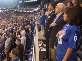 Mike Pence: It was right to leave the Colts game