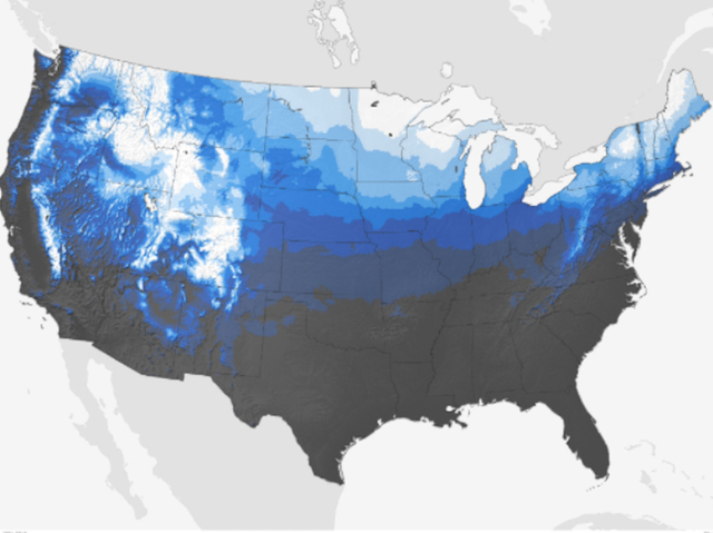 map shows where snow will fall on christmas day theindychannelcom indianapolis in - What Day Does Christmas Fall On