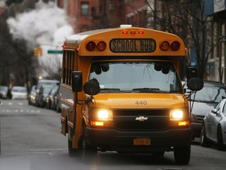 Bus driver arrested for letting kids drive