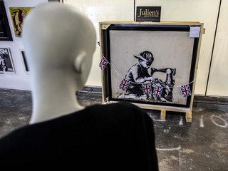 Artist vows to destroy $730K Banksy work